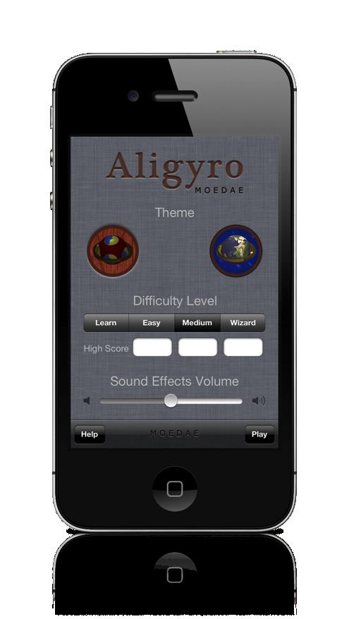 Aligyro iPhone Settings