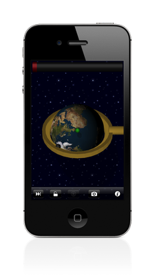 Aligyro Space Theme on iPhone
