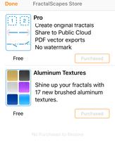 FractalScapes IAP Store